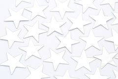 Silver stars isolated Stock Photos