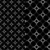 Silver stars pattern. silver beaded stars over black background. arabesque design Stock Images