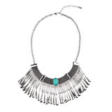 Silver statement necklace Stock Photos