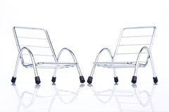 Silver steel chair Royalty Free Stock Photo