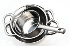 Silver Steel Kitchenware Stock Photography