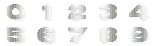 Silver, steel wire font. Numbers Royalty Free Stock Photography