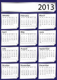 Silver sticker calendar 2013. A 2013 calendar created with silver stickers. Space for text or Company name stock illustration