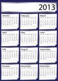 Silver sticker calendar 2013 Stock Image