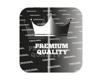 Silver sticker premium quality Royalty Free Stock Photos