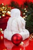 Silver stiliserad julgran Fotografering för Bildbyråer