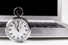 Silver Stopwatch Stock Image
