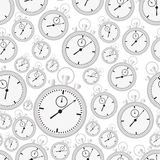 Silver stopwatch case and dials with hands seamless pattern eps10 Royalty Free Stock Images