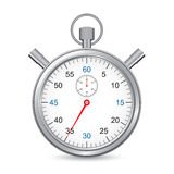 Silver stopwatch. Time and precision concept, web icon Royalty Free Stock Photography
