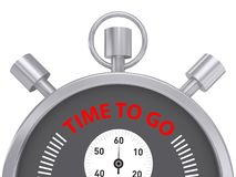 Silver Stopwatch Time to Go Stock Image