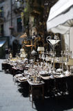 Silver street market. In Taormina, Sicily. Shallow depth of field Royalty Free Stock Photography