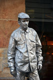 Silver street statue Royalty Free Stock Photo