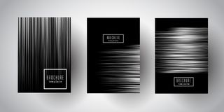Silver striped brochure designs Royalty Free Stock Photography