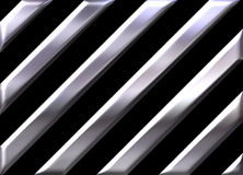 Silver stripes on black background Stock Images