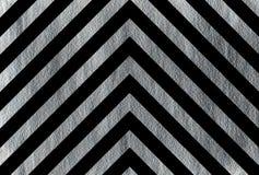Silver stripes on black background, chevron. Royalty Free Stock Image