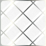 Silver stripes, cage on white background vector. Silver stripes, cage on white with polka dots background. For Design crafts, fabrics, decorating, web, print Stock Images