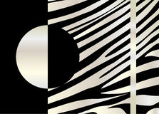 Silver stripes pattern. Decorative ornamental background, black and silver stripes pattern. Striped black and silver abstract background, tribal ornament, vector stock illustration