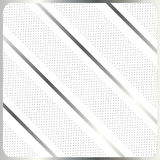 Silver stripes on white background vector. Silver stripes on white with polka dots background. For Design crafts, fabrics, decorating, web, print textures royalty free illustration