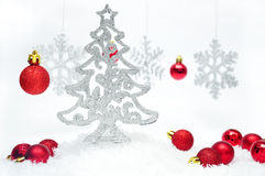 Silver style Christmas Stock Photos