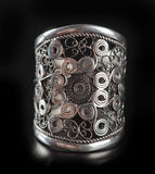 Silver stylish ring Royalty Free Stock Photo