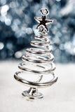 Silver stylized Christmas tree Stock Photo