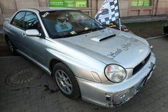 Silver Subaru Impreza RS second generation compact car Stock Photo