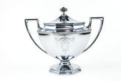 Silver Sugar Bowl Royaltyfri Foto
