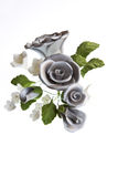 Silver Sugar Paste Bouquet Stock Photo