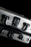 Silver suitcase Stock Photo