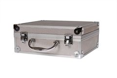 Silver suitcase isolated Stock Image