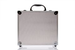 Silver suitcase isolated Royalty Free Stock Photo