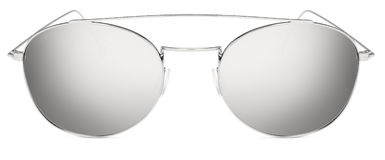 Silver sunglasses gray mirror lenses isolated on white backgroun Stock Photography