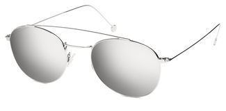 Silver sunglasses gray mirror lenses isolated on white Royalty Free Stock Photos