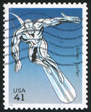 Silver Surfer. UNITED STATES - CIRCA 2007: stamp printed by United states, shows Silver Surfer, circa 2007 stock images