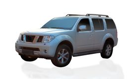 Silver SUV car Stock Photography