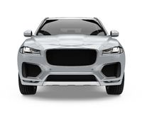 Silver SUV Car Isolated Royalty Free Stock Image