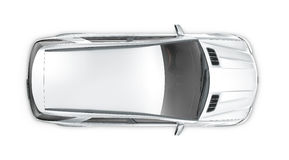 Silver SUV - top view Stock Images