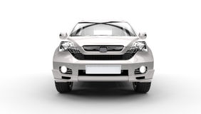 Silver SUV 4X4 - Front View Stock Image