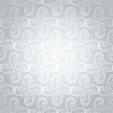 Silver swirl overlap Royalty Free Stock Photos
