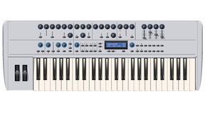Silver Synthesizer Royalty Free Stock Images
