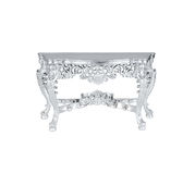 Silver table Stock Image