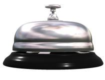 Silver table bell Stock Photography