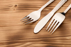 Silver Tableware Royalty Free Stock Photo