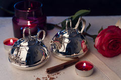 Silver tableware Royalty Free Stock Images