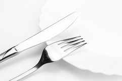 Silver Tableware Stock Photography