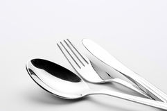 Silver Tableware Royalty Free Stock Image