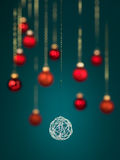 Silver tangled christmas decoration Royalty Free Stock Photography