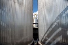 Silver tanks Stock Image