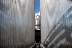 Silver tanks Stock Image