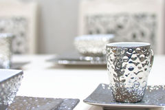 Silver tea cup Royalty Free Stock Photo